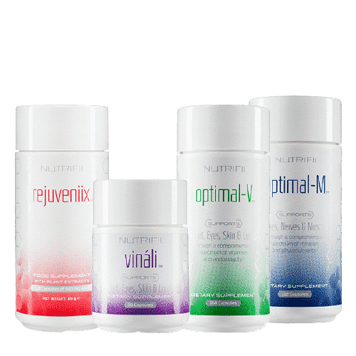 "The ""Antioxidant Supreme"" pack from the Nutrifii range is the perfect ally for getting your body back into shape. The pack is composed of Rejuveniix, Vinali , Optimal-V and Optimal-M"
