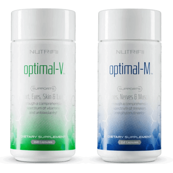 Optimal-V & Optimal-M - Food Supplement - Energy - ARIIX product