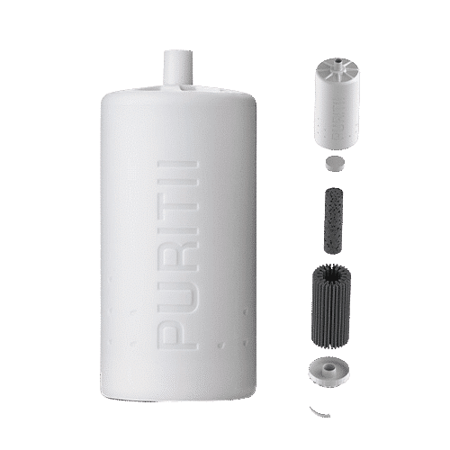 Il filtro del pallone filtrante puritii par ariix filtra il 99,99% dei batteri presenti nell'acqua di rubinetto e altri.