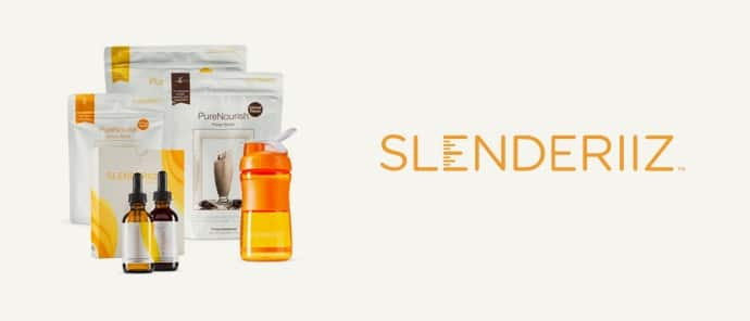 Slenderiiz est la gamme speciale gestion de poids de la marque Ariix. Slenderiiz est composée des Day & Night Drops, du PureNourish, du Beauty Boost et du Giving Greens.